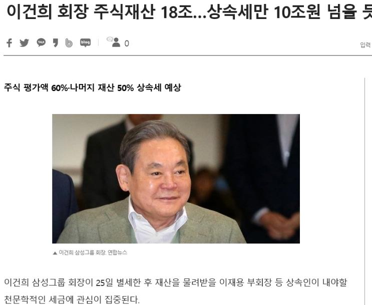 이건희 회장님 타계... 앞으로 삼성은?