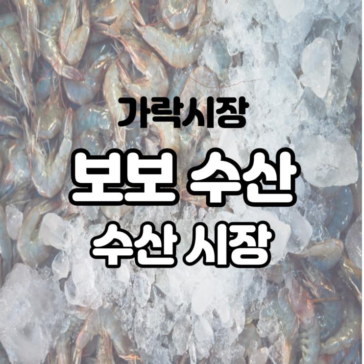 서비스 좋고 친절했던 가락시장역 수산 시장 보보 수산 추천!