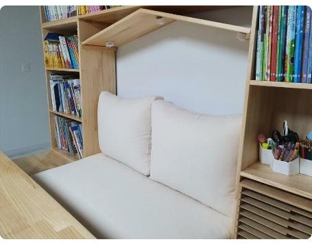 벤치책장방석 쿠션세트 제작후기