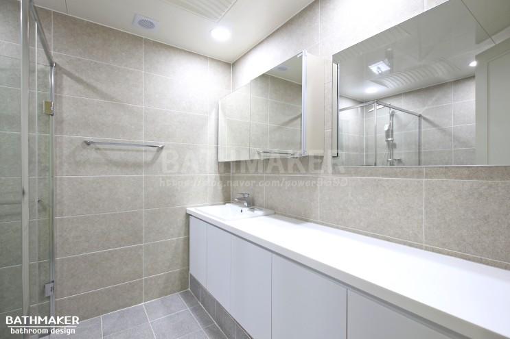 시흥 신일해피트리 욕실하부장이있는 안방화장실 리모델링