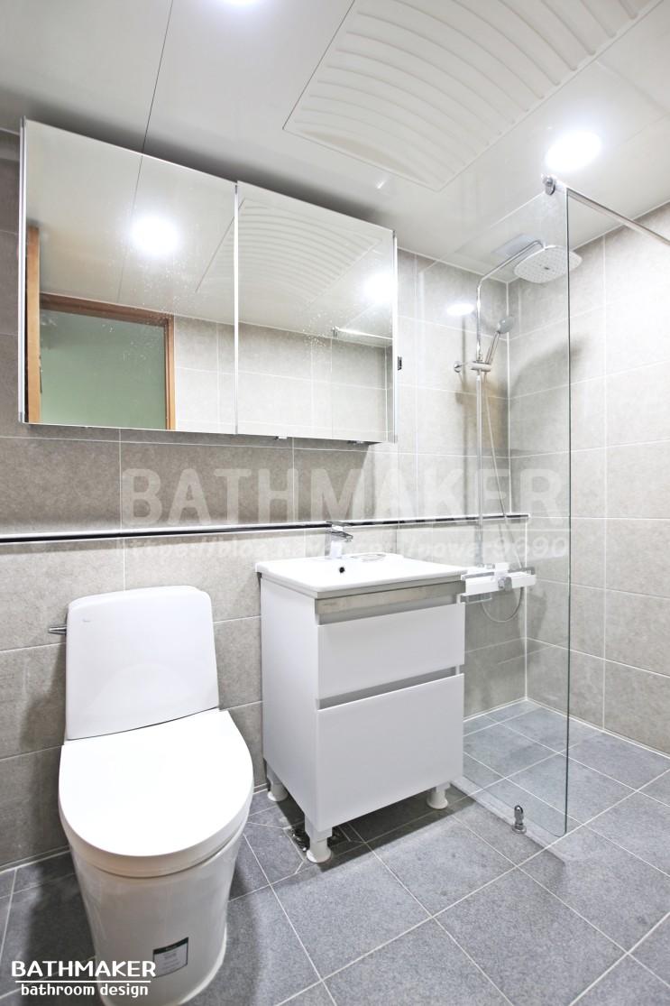 하부장을 설치한 의정부 민락 한라비발디 욕실인테리어