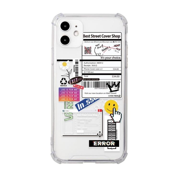 커버프렌즈 영수증 투명 아이폰 갤럭시 휴대폰 케이스