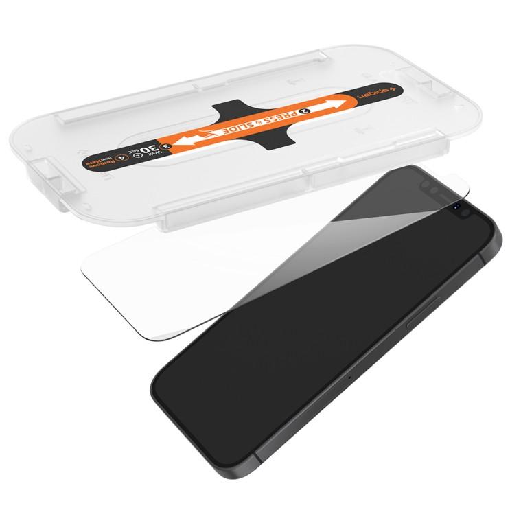 슈피겐 글라스 티알 이지핏 휴대폰 강화유리 전면보호 AGL01801 2p, 1세트