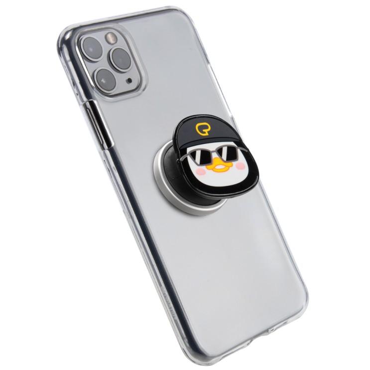 구스페리 슈퍼젤리 힙합펭수 그립톡 휴대폰 케이스