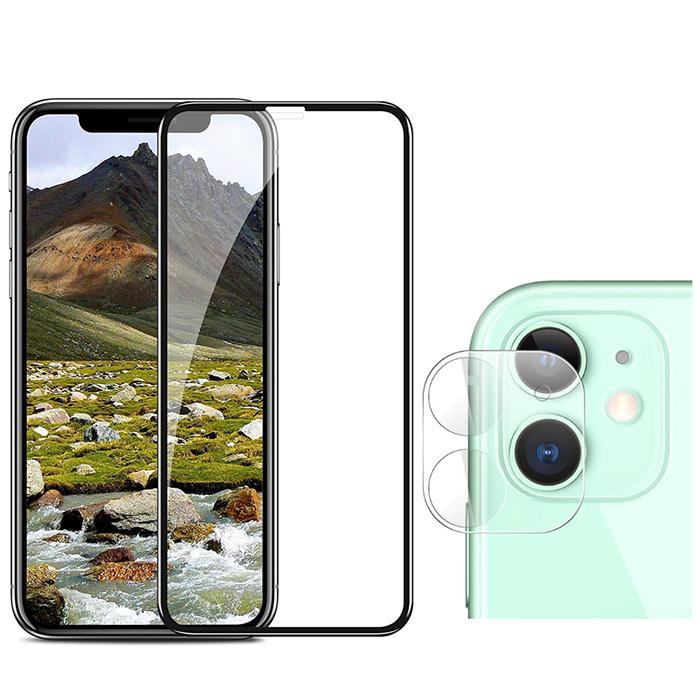 퀵핀 3D 풀커버 휴대폰 강화유리 액정 필름 + 카메라 필름 세트, 1세트
