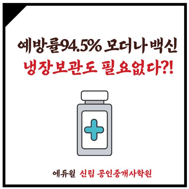 [신대방3동 공인중개사학원] 모더나 백신, 예방률 94.5%! 코로나 탈출구가 보인다!?