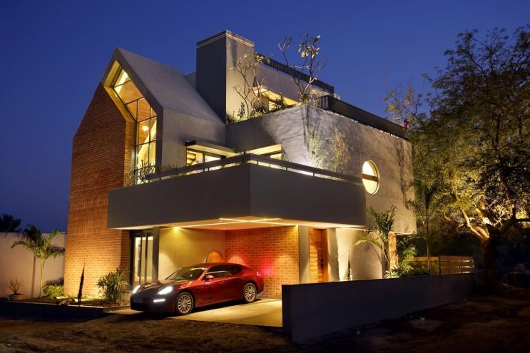 모던 벽돌집 성채 벽돌주택 브릭하우스 짓기