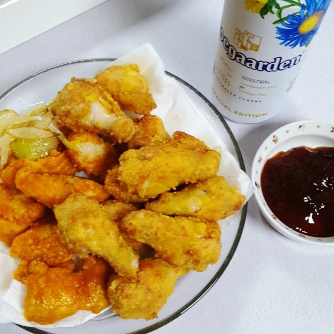 애슐리 홈스토랑 치킨 콤보 직접 먹어봄