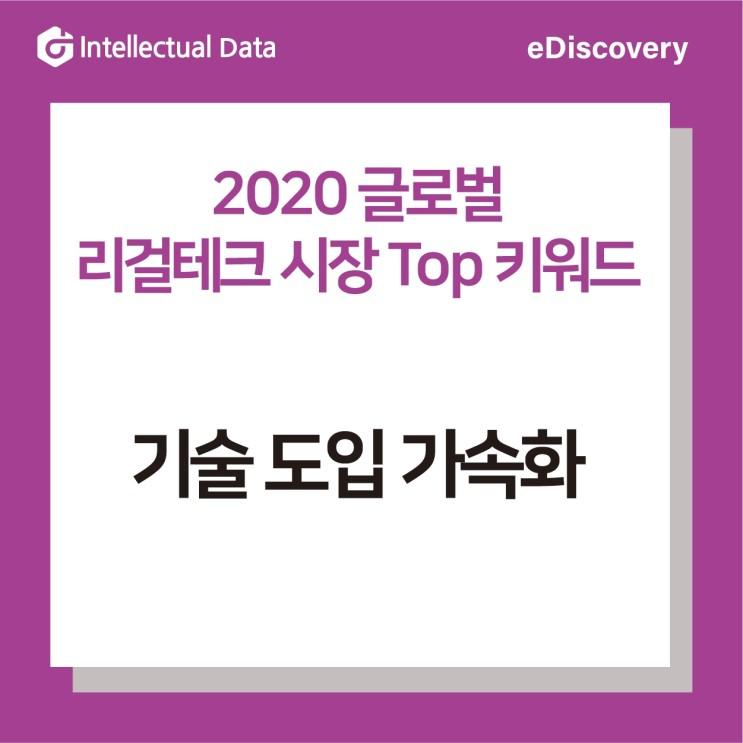 2020 글로벌 리걸테크 시장 Top 키워드 1_기술 도입 속도 가속화