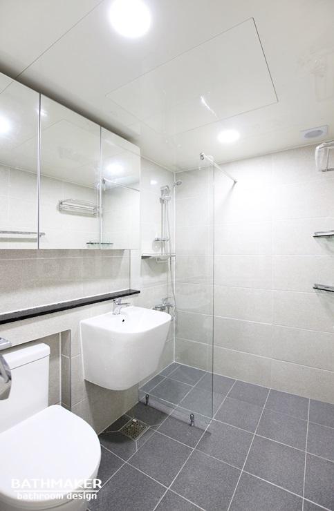 젠다이, 이단수건선반이 있는 풍림한국아파트 욕실인테리어