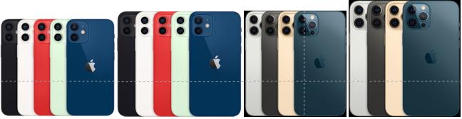 아이폰 12, 아이폰 12프로, 아이폰 12프로맥스, 아이폰 12미니 비교!
