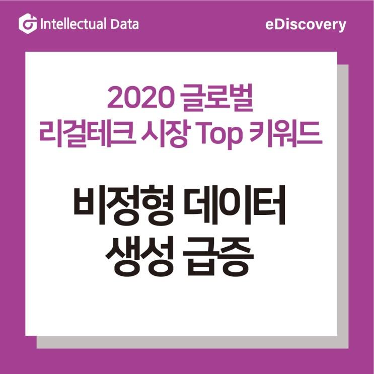 2020 글로벌 리걸테크 시장 Top 키워드 2_비정형 데이터 생성 급증