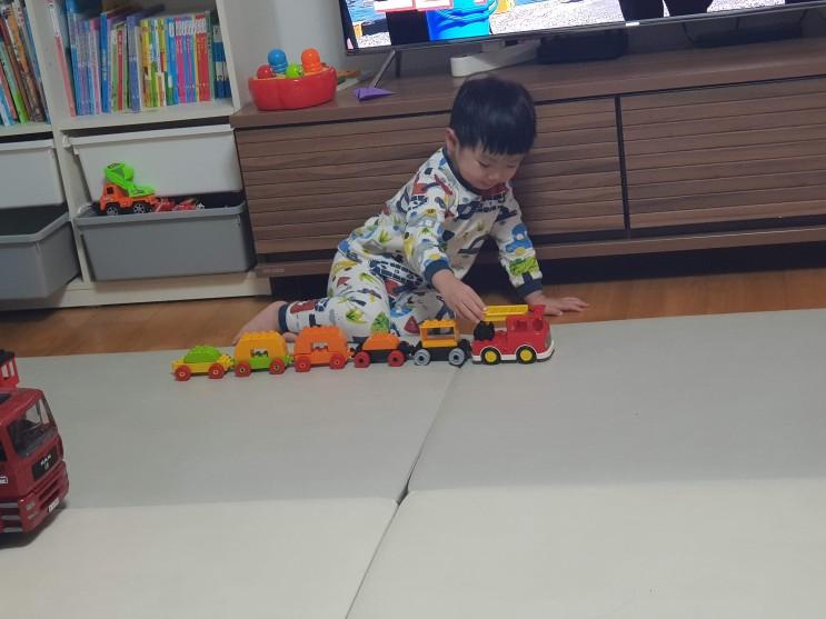 201129 민승이가 만든 크래인, 기차소방차