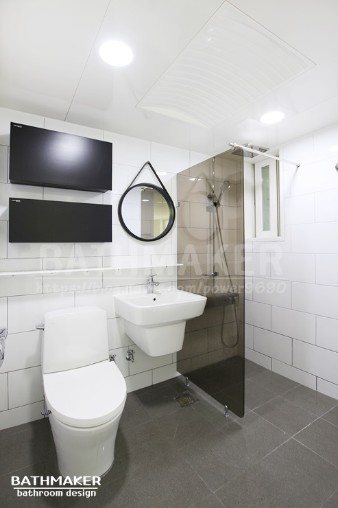 화장실인테리어공사 - 이누스도기를 사용한 금오그린빌1단지