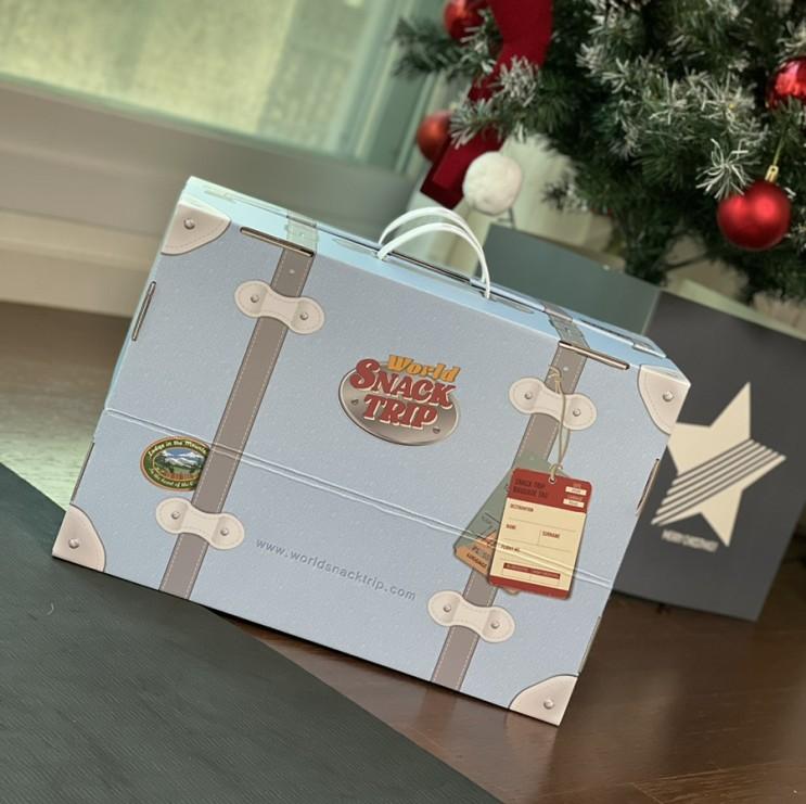 과자선물세트 월드스낵트립 서프라이즈로 받음