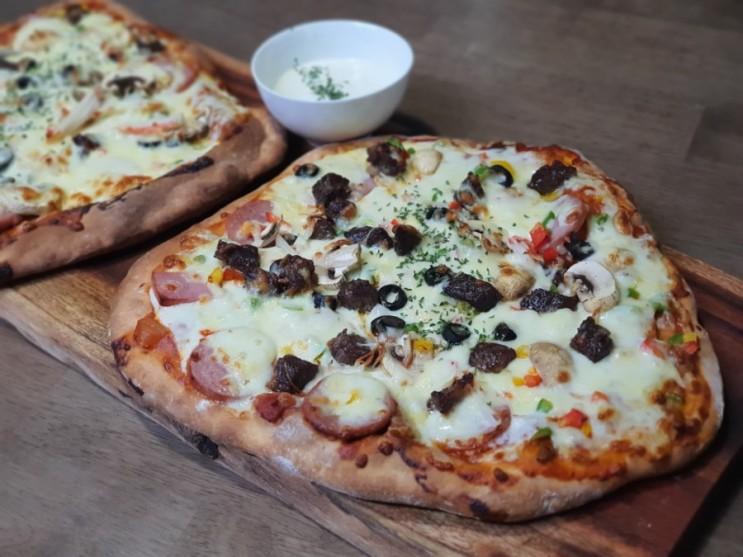 홈메이드 피자 (무반죽피자 만들기)
