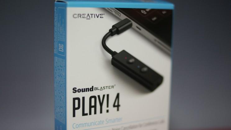 Hi-res USB-C DAC Creative Sound Blaster Play 4 사용기 리뷰 사운드블라스터 플레이 4! 외장 사운드카드