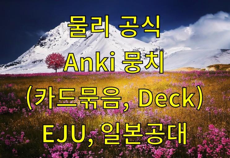 일본 물리 137개 공식 Anki 뭉치 (EJU, 일본공대)