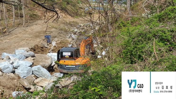 [충남 아산] 좌부동 설화마을 자연계곡 정비 中