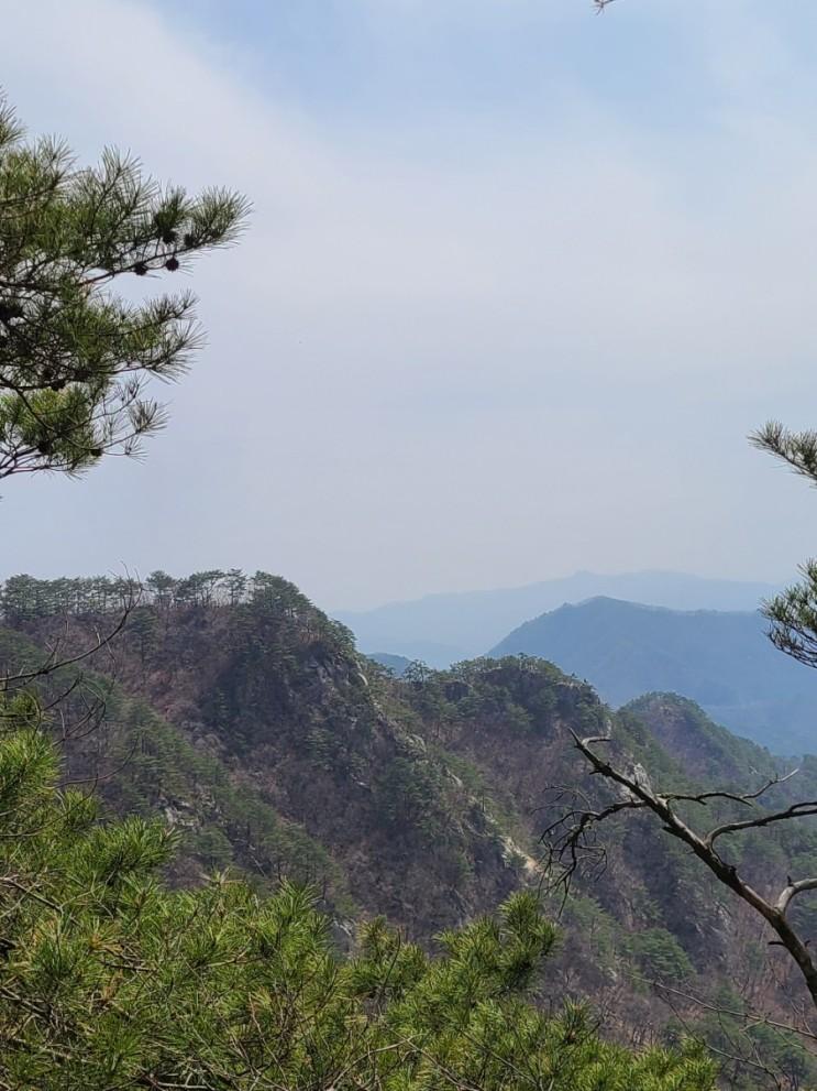 100대명산-2, 춘천 오봉산 최단코스 등산(배후령고개~제1, 2, 3, 4봉~청솔바위~오봉산~원점)