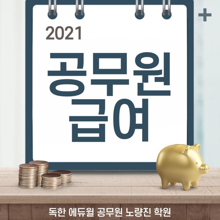 [노량진동공무원학원] 2021년 공무원 직종별 급여, 월급, 봉급표