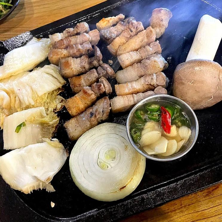 순천 하르방 연탄구이 제주 흑돼지 오겹살 맛집