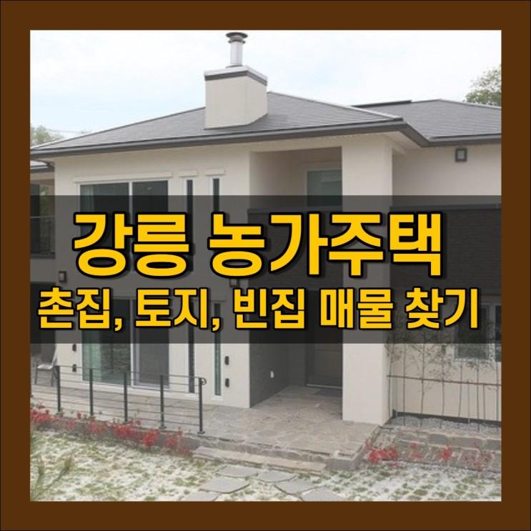 강릉 농가주택 빈집 매물 현황 확인방법