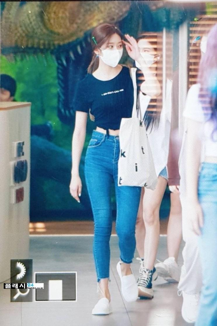 김민주 청바지핏 몸매