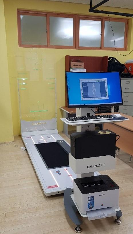 체형분석기 설명을 위한 세명대학교 방문.