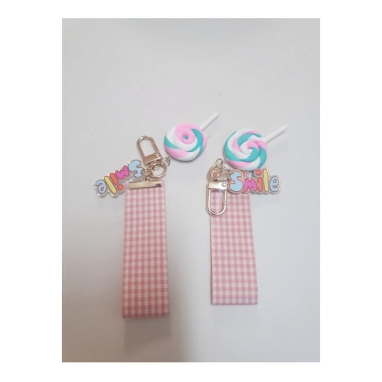 두딸래미의 핑크스마일 열쇠고리