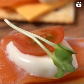 슈페리어급 생 연어로 만드는 맛있는 연어 카나페😋