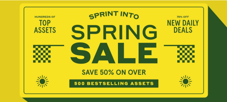 유니티 AssetStore, 2021년 봄 세일~!무려 50%