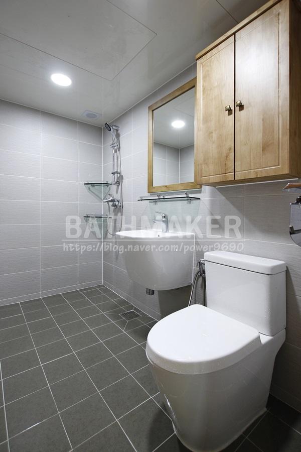 옥정세창리베하우스 안방욕실리모델링 견적 알아보기, 우드수납장, 원목욕실인테리어