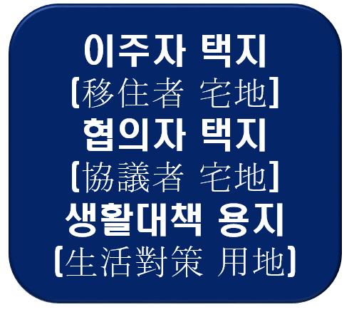 (알기쉬운) 토지보상 : 이주자 택지,협의자 택지,생활대책용지