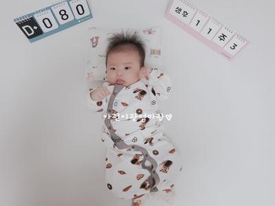 80일차-신생아보낭, 80일기념사진촬영, 잠투정, 등센서