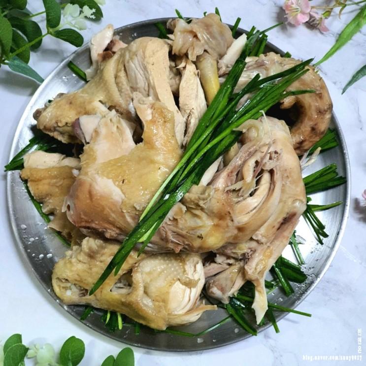 토종닭백숙 끓이는법과 삶는 시간 한방+닭발 육수로 진하게 만들기
