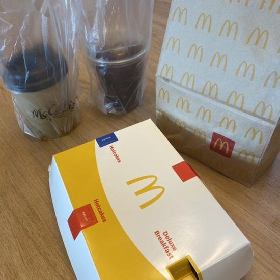 맥도날드 맥모닝 디럭스 브렉퍼스트 메뉴 시간맞춰 배달 주문 성공