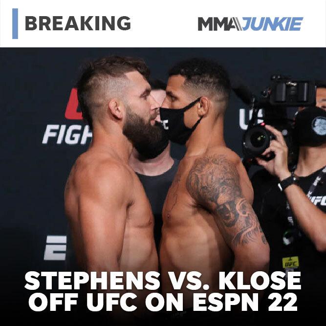 제레미 스티븐스 vs 드라카 클로즈 취소.. 스티븐스 밀치기 때문 등 MMA 뉴스
