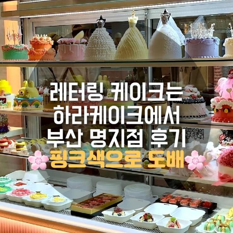 명지 하라케이크 레터링 케익전문 샤방샤방 후기