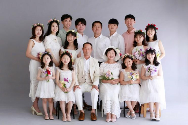 [부모님리마인드웨딩촬영] 리마인드가족사진을 더더 예쁘게 남겨드리는 서초, 수원 가족사진스튜디오 하늘정원♡