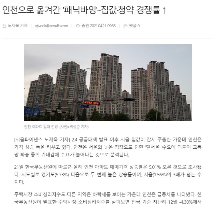 2021~2023년 인천 부동산 전망(feat. 교과서적인 예측은 의미없다)