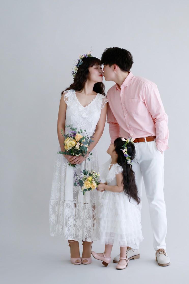 [수원 강남리마인드웨딩촬영] 세미웨딩드레스 따로 준비할 것 없이 가족사진 촬영하러 하늘정원으로 몸만 오세요 ^^