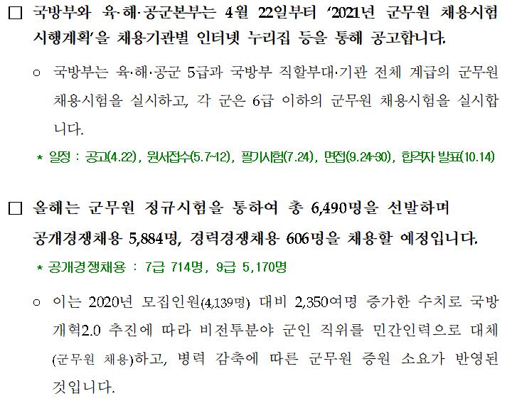 [성동구공무원학원] 2021년 군무원 역대 최대 규모 채용!!