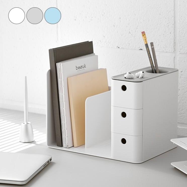 선택고민 해결 책상위선반 디자인 탁상용서류꽂이 오피스 정리 멋스런컬러인테리어 자취방꾸미기 자취생필수품 서랍책꽂이 조립책꽂이 우드책꽂이, 색상, 민트 ···