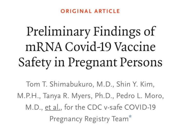 [NEJM] 임산부 코로나 백신 접종