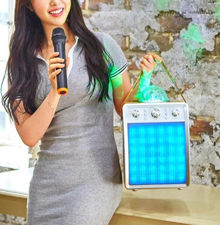 가정용노래방기계 블루투스 스피커 마이크 세트