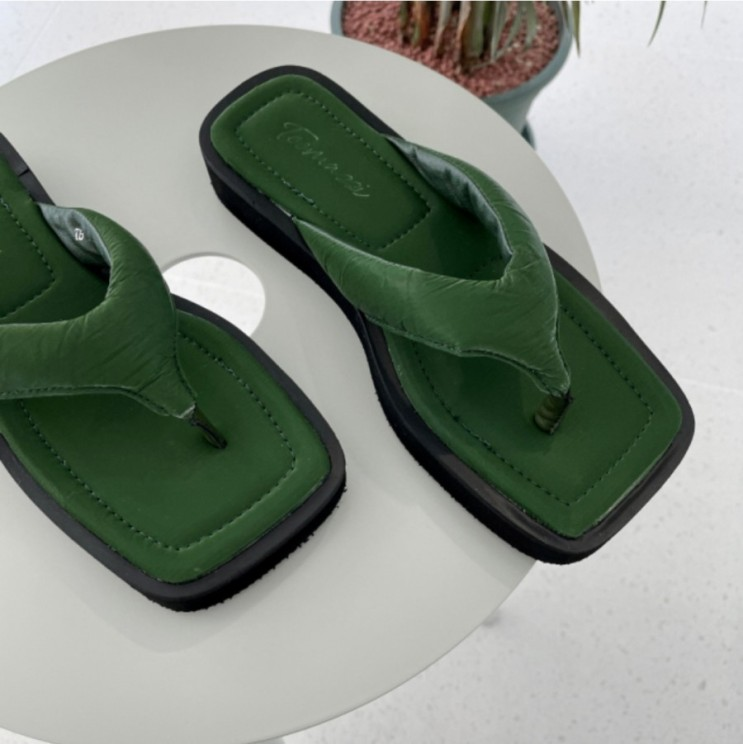 플리플랍 플립플랍 발편한 푹신한 쿠션 통굽 쪼리 슬리퍼 2.5cm