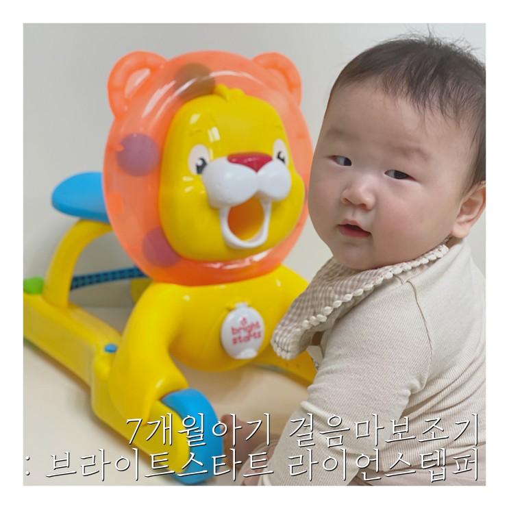 8개월아기 걸음마보조기 : 브라이트스타트 라이언 스텝퍼 3in1