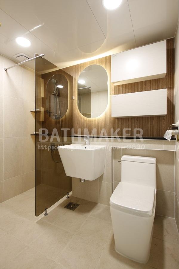 용인시 죽전 동성2차 아파트 욕실인테리어 (거실/안방) LED거울, 욕실소품,대림디움
