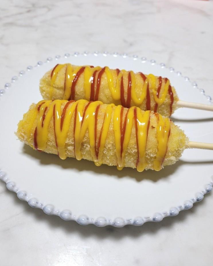 감자핫도그 만들기